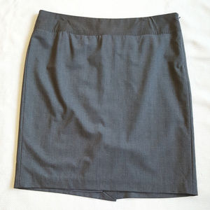 The Limited LUXE Grey Pencil Career Skirt